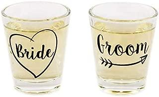 Bride and Groom Shot Glass Set