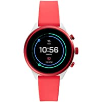Fossil Women's Sport Metal and Silicone Touchscreen Smartwatch with HR