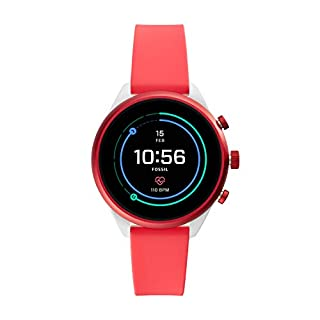 Fossil Women's Gen 4 Sport Heart Rate Metal and Silicone Touchscreen Smartwatch, Color: Coral Red (FTW6027) (B07HBP9BVD) | Amazon price tracker / tracking, Amazon price history charts, Amazon price watches, Amazon price drop alerts