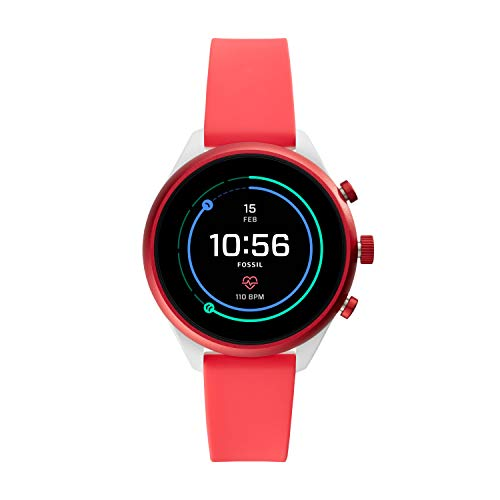 Fossil Sport 41mm smartwatches red blue yellow