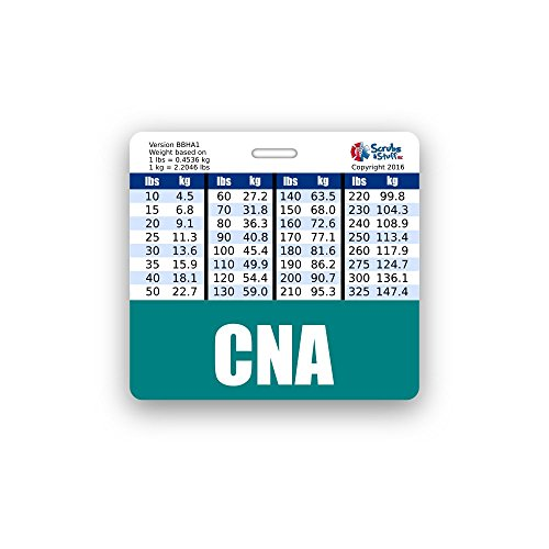 CNA Badge Buddy Horizontal w/Height & Weight Conversion Charts (Teal)