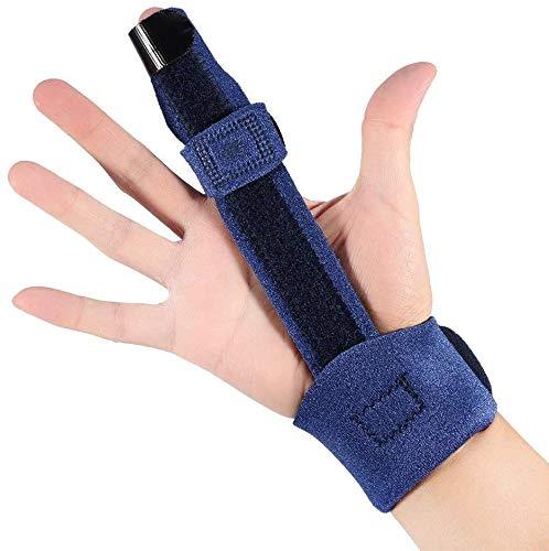 Stecca regolabile per dita, frattura metacarpale, maglio curativo, supporto correzione dita per raddrizzamento curvo, piegato, mignolo, pollice e anello