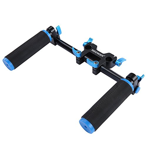 Neewer DSLR Dual Handle Hand Grip for Shoulder Pad Chest Steady 15mm Rail Rod Rig Support System
