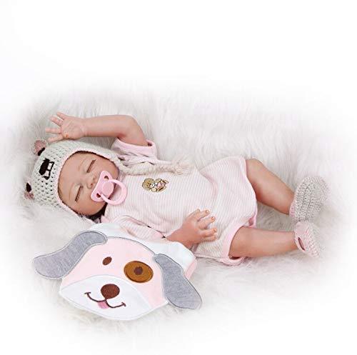 ZIYIUI 20 Pollici 50cm Bambole Reborn Femmine Tutto Il Corpo Silicone Morbido Occhi Chiusi Reborn Doll Magnetico Giocattoli per Bambini Regalo di Natale