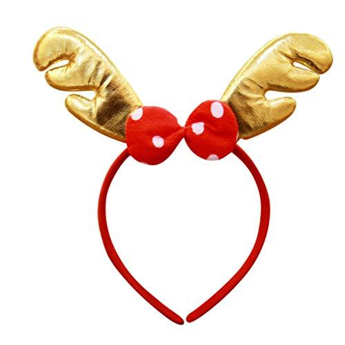 Sayla Weihnachten Dekoration Weihnachtsschmuck, Elchgeweih Haarreif Geweih Weihnachten Weihnachtsgeweih Rentiergeweih FüR Kinder Erwachsene, Weihnachten Tiergeweih Stirnband Headclip ZubehöR