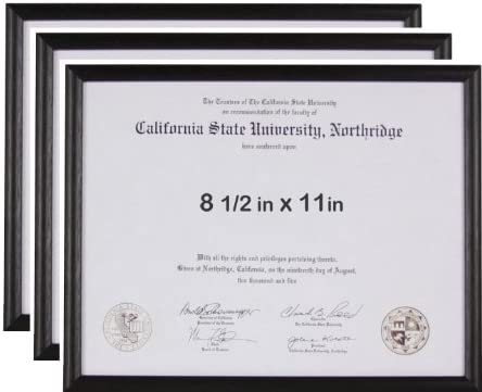 Endearing Sale special price Frames 8.5x11 Basic Black Frame Certificate or Max 66% OFF License