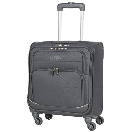 Flight Knight Lightweight 4 Wheel 300D Soft Case Suitcases Compatible with for Vueling, RyanAir, EasyJet, BA, TUI Fly Cabin & Hold Luggage Options Approved for 78 Airlines!