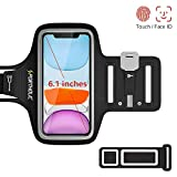 PORTHOLIC Running Armband for iPhone 11 Pro XS X 8 7 6, Sweatproof Phone Case Holder Arm Pouch with...