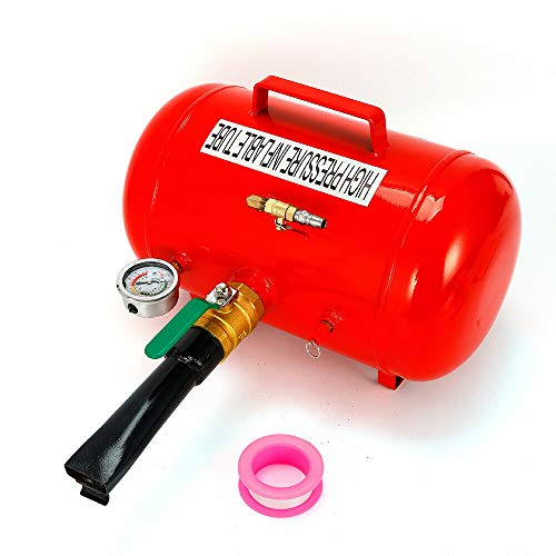 RDFlame - Contenitore portatile per pneumatici, 10 bar, con barometro (20 L)