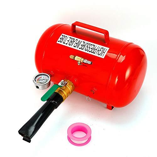 Inflador de neumáticos de acero inoxidable, 40 L, con un barómete, presión máxima de llenado de 10 bar, adecuado para la hinchado de diferentes neumáticos y neumáticos de vacío.