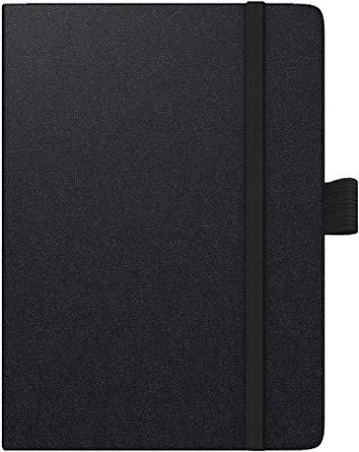 Brunnen 1073266901 Taschenkalender Modell 732 Kompagnon, 2 Seiten = 1 Woche, 10 x 14 cm, Baladek-Einband schwarz, Kalendarium für 18 Monate (Juli 2020 bis Dezember 2021)