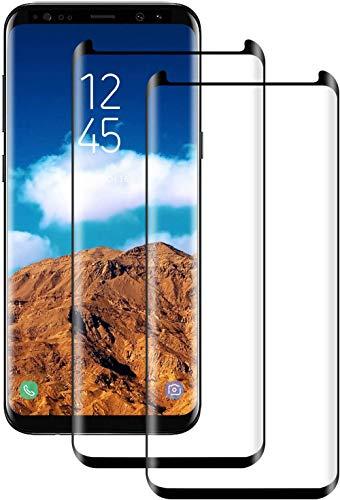 DOSNTO Cristal Templado para Samsung Galaxy S9 Plus, [2 Pack] [Negro] Cobertura Completa Protector de Pantalla para Galaxy S9 Plus, 9H Dureza, 3D Curvo, Anti-rasguños, Sin Burbujas, Funda Compatible
