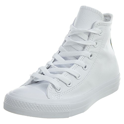Converse Chuck Taylor All Star Adulte Mono Leather Hi, Unisex-Erwachsene Hohe Sneakers, Weiß (blanc), 43 EU