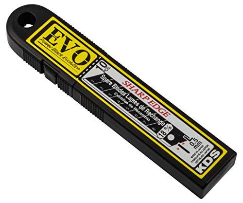 Gedotec afklikbare messen 18 mm vervangende messen voor snijmessen | KDS Power Black Evolution | SB-10B EVO | Blad ontworpen voor maximale scherpte | MADE IN JAPAN | 10 stuks - Professionele snijmessen