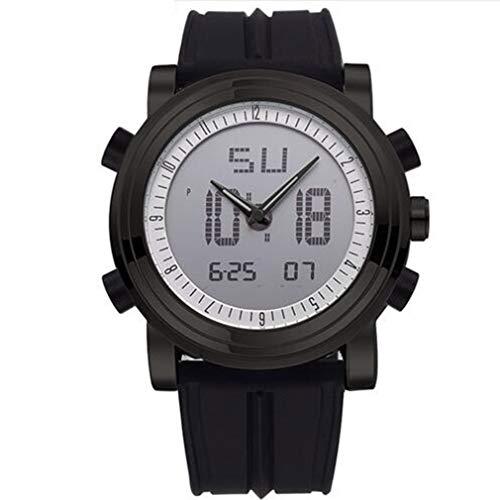 Herren Digitaluhr, Herren Chronograph Armbanduhren, wasserdichte Geneva Quartz Sports Running Uhr, Leuchtend, 24 Stunden, Stoßfest