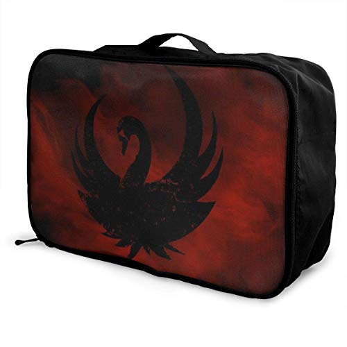 Bla Swan Bolsa de viaje Lage Bolsa de viaje ligera maleta portátil Bolsas para mujeres hombres niños impermeable grande Bapa Caity