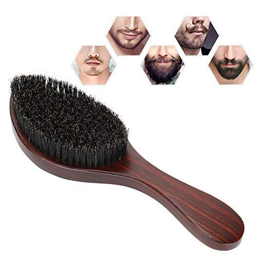 Cepillo de barba, hecho de abedul, lechón, cabello de barba de nylon 2 cm cuello de cuello cepillo