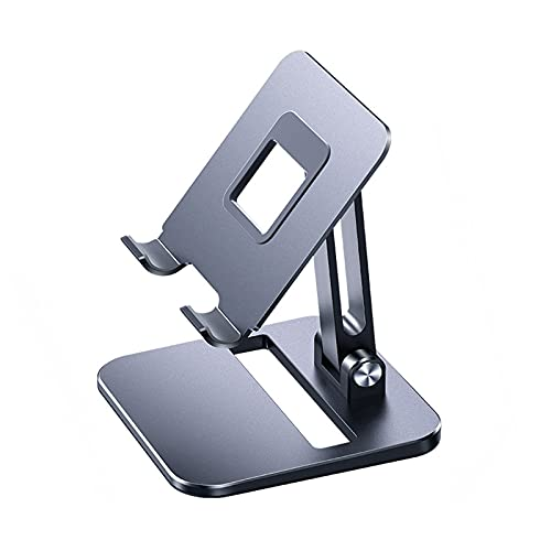RYUNQ Folding Tablet Stand Adjustable Aluminum Alloy Phone Holder Desktop Stand for iPad Pro Mini Air 12.9, 11, 10.5, 9.7 Samsung Galaxy Tabs, Kindle Fire, Surface Pro, Switch, iPhone