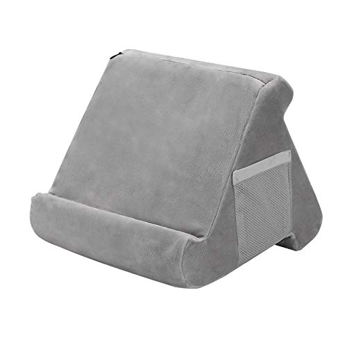 Kengsiren Multi-Angle Soft Pillow Lap Stand,Tablet Stand Pillow Holder,for Mini Ipads, Tablets, Ereaders, Smartphones, Books, Great for Kids,9 Inch,Gray
