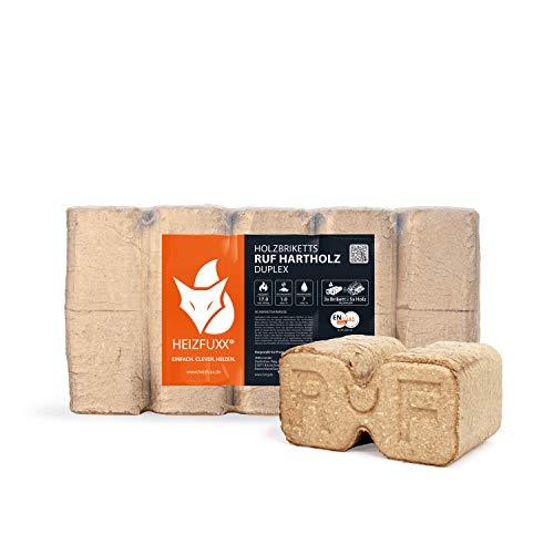 PALIGO Holzbriketts Hartholz Ruf Duplex Kamin Ofen Brenn Holz Heiz Brikett 10kg x 3 Gebinde 30kg / 1 Karton Heizfuxx