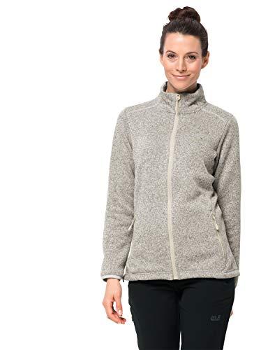 Jack Wolfskin Damen Caribou ALTIS Jacket W Fleecejacke, White Sand, XL