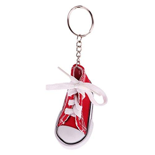 Preisvergleich Produktbild Art Und Weise Segeltuchschuh Anhänger Schlüsselring Schlüsselanhänger Geschenk - Fuchsia