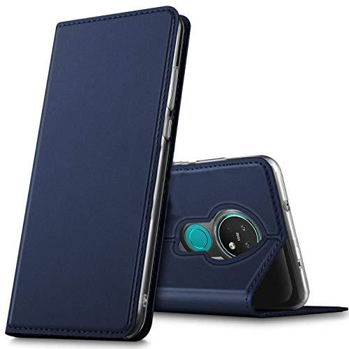 Verco Handyhülle für Nokia 7.2, Premium Handy Flip Cover für Nokia 7.2 Hülle [integr. Magnet] Book Hülle PU Leder Tasche, Blau