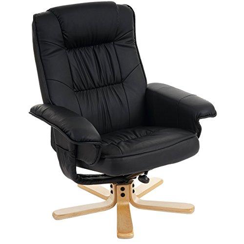 Mendler Relaxsessel Fernsehsessel Sessel ohne Hocker M56 Kunstleder ~ schwarz