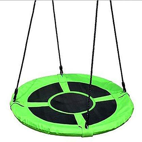 De ronde tuinschommel in vogelnest is in hoogte verstelbaar en kan worden opgehangen. Geschikt voor binnen en buiten met een maximale belasting van 150 kg.