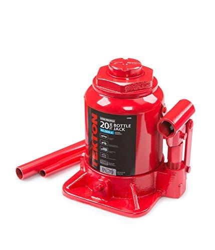 TEKTON 5496 20 Ton Hydraulic Bottle Jack, Low Profile