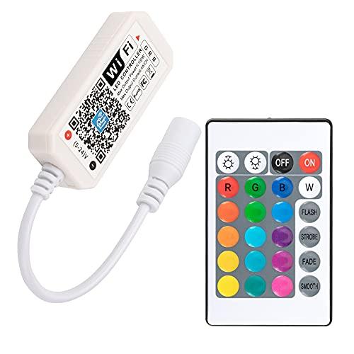 RGB LED Streifen Wifi Kontroller mit Alexa, Wifi/App Gesteuert, 5V-28V Led Lights Controller mit Android und IOS System Für Alle 3528 5050 2835 Led Strip