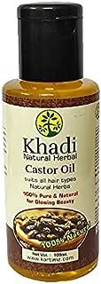 Khadi Herbal castor Oil for Hair Growth Pack Of 1 (100 ml)
