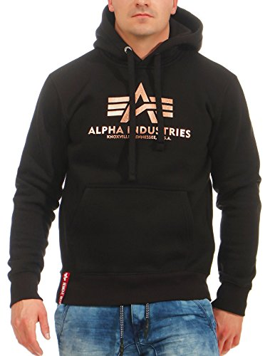 Alpha Industries Basic Hoodie Schwarz/Gold S