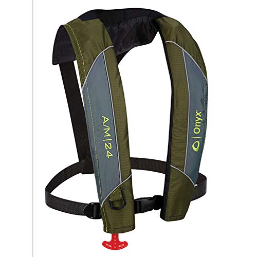 ONYX A/M-24 Automatic/Manual Inflatable Life Jacket, Green