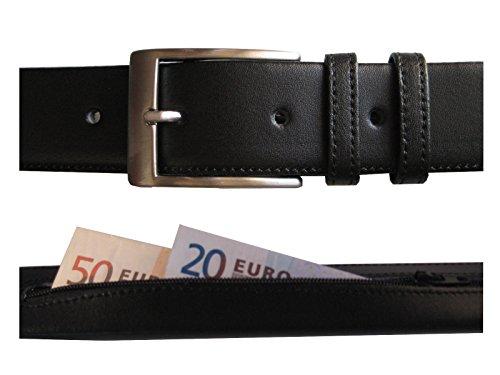 Hecho en España - Cinturón de piel con cremallera interior