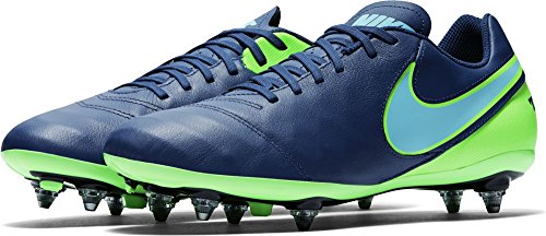 Nike Tiempo Genio II Leather SG, Scarpe da Calcio Uomo, Blu (Coastal Blue/Polarized Blue/Rage Green), 40 EU