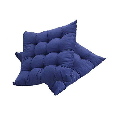 Cuscino per sedia da esterno/interno, cuscino in vimini addensato Cuscino quadrato imbottito per sedia Cuscini per sedili con lacci per sedie da giardino Sedia da pranzo per ufficio in casa, 16 'X 16
