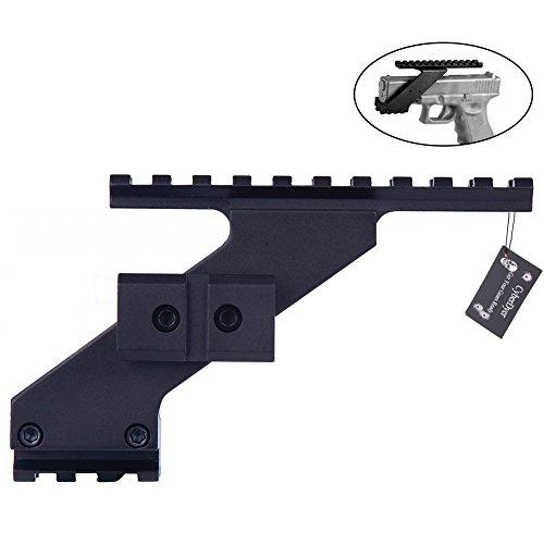 Tactical Pistol Handgun Scope Mount with Weaver Rails for Picatinny Rail Glock