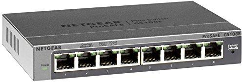 Netgear GS108E-300PES 8-Port WeB Managed (Plus) Gigabit Switch