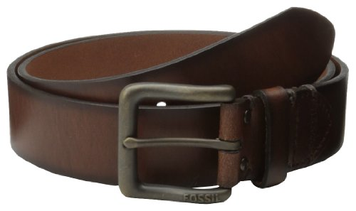 Fossil Men's Leather Belt (MB129020134_Brown_34)