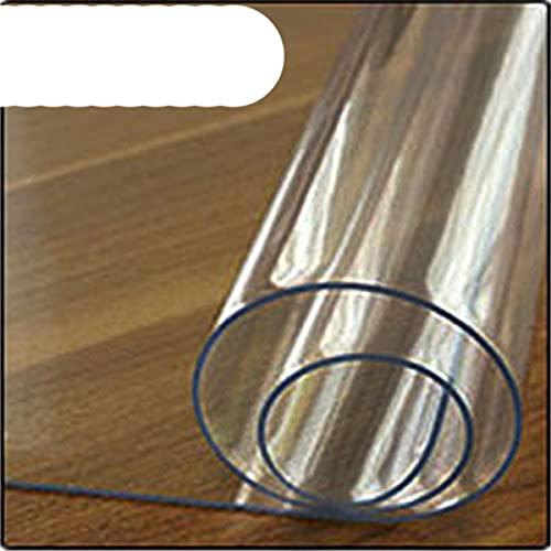 Mantel de PVC de la marca Mantel transparente cubierta impermeable de la cocina patrón aceite mantel de vidrio suave paño 1.0mm-transparente, 60x100cm, Federación de Rusia