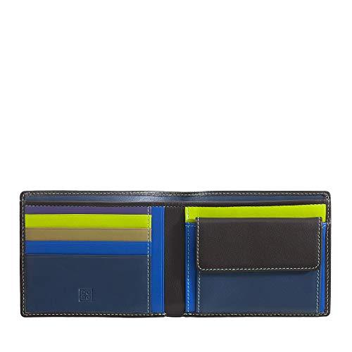 DUDU Portafoglio uomo RFID in pelle Nappa colorato con portamonete e porta carte Woods