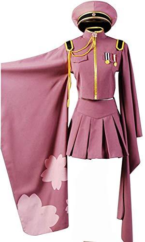 Nsoking Anime Senbonzakura Kimono Uniform Party Dress Halloween Outfit Suit (Large, Pink)