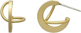 Earrings for Women Dangling, Crystal Drop Dangle Earrings Elliptical Ring Teardrop Women Girls Wedding Gift Rose Gold