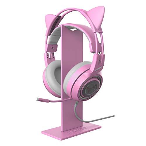 Somic Kopfhörer-Ständer, universeller Headset-Ständer, Kopfhörer-Halterung, Acryl, für Gaming Headset, Kopfhörer, Halterung für alle Kopfhörer, Pink