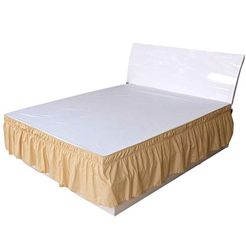 Bed Skirt Bed Base Cover Solid Color Elastic Bed Rock Home Hotel Schlafzimmer-Bett-Seiten-Dekorationen Schutz Bedding Removable Bett Band Rock Home Textile ( Color : Yellow , Size : 200x200x40cm )