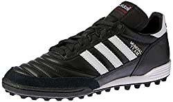 Black and White adidas Performance Mundial Team Turf Soccer Cleat