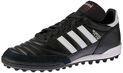 adidas Originals Mundial Team, Botas de fútbol Unisex Adulto, Black/Running White FTW/Red, 43 1/3