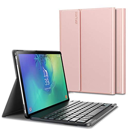 INFILAND Tastiera per Samsung Galaxy Tab S6 2019, Custodia Cover con Tastiera Staccabile Bluetooth Wireless Italiana per Samsung Galaxy Tab A S6 10,5 Pollice (SM-T860/SM-T865) 2019,Rosa Dorato