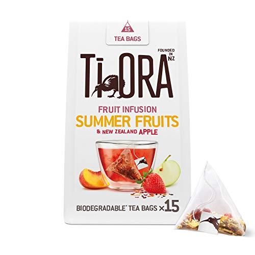 Ti Ora Tee, Früchtetee Summer Fruits, 4er Pack, 15 Pyramiden - Teebeutel